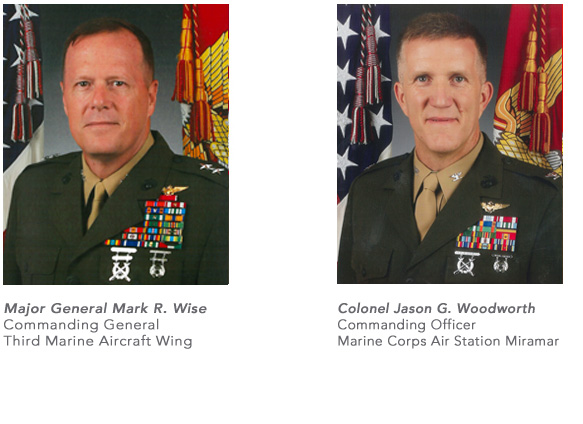 MARK R. WISE Major General U.S. Marine Corps Commanding General 3d Marine Aircraft Wing and JASON G. WOODWORTH Colonel U.S. Marine Corps Commanding Officer MCAS Miramar